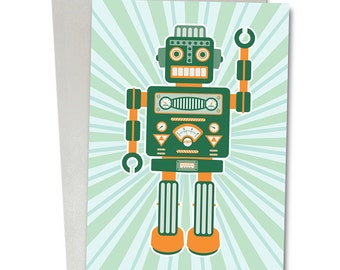Robot series greetings/birthday card