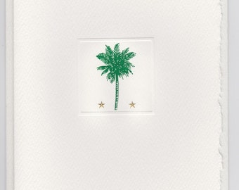 Palm Tree & Stars Foldover Note