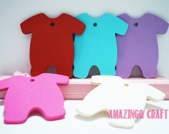 Baby Clothes Paper Tags - Cardstock Paper Tags - Hang Tags - Set of 50
