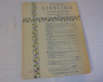 Vintage 1938 Estelle Liebling Coloratura Voice Piano Music Series I