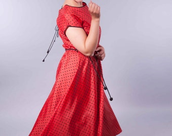 Swinger - vintage polka dot petticoat dress
