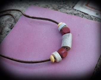 Made from deer antler necklace - real antler jewelry -deer antler beads