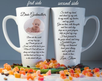 Set of 2 Godmother,Godfather mugs-Godparents gift-Godmother gifts-Christening gifts-Godfather gifts-Godparents mugs-Baptism gift-Godparents