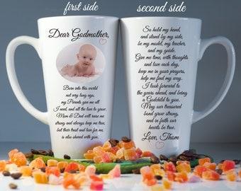 Godparents mugs, Godparents gift, Godmother gift, Christening gift, Godfather gift, Custom Baptism mug, Baptism gift, Godparents thank you