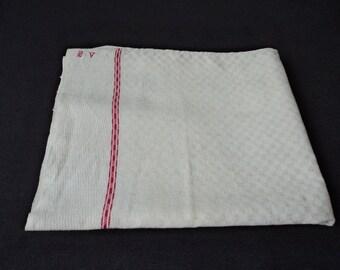 French vintage large linen tea towel / torchon (02591 - 92)