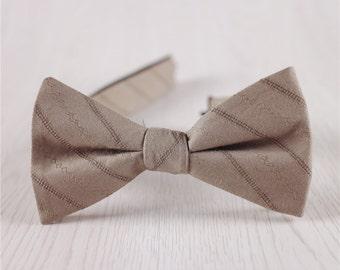 coffee bowties.cotton strped bowty.mens bowties.groomsmen bowties.party bowties+bt52
