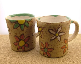 Pair or stoneware cups