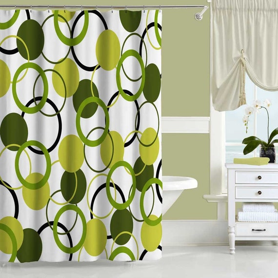 Unique Shower Curtain Olive Green Shower Curtain Bath