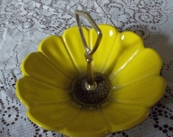 Yellow sunflower dish