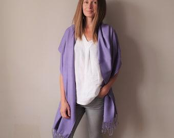 Large Cashmere Silk Pashmina Shawl