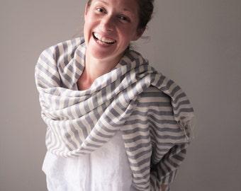 SALE Striped cashmere wrap