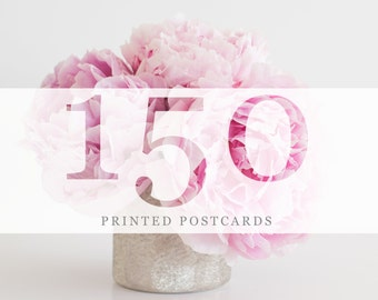 150 Printed Postcards