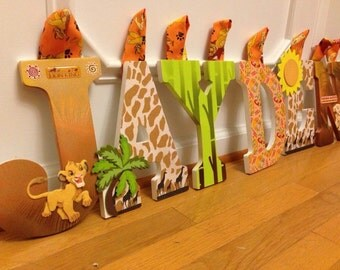 Customized Lion King Letters