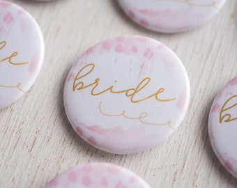 Bachelorette Party, Bride Pin, Flare Button, Wedding Party Button, Team Bride, Wedding Party Flare, Bar Crawl, Bridal Party Bus, I Do Crew