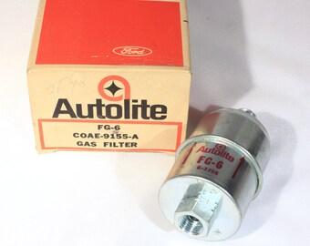 Autolite Vintage, FG6 Gas Filter, Car Part, Auto Parts, 1960s, Edsel, Ford, Tbird, Car Restoration, NOS