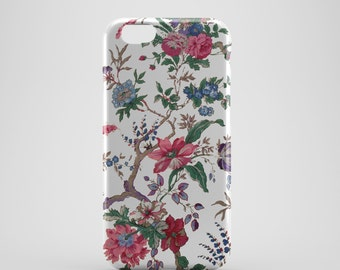 White Floral Phone case,  iPhone X Case, iPhone 8 case,  iPhone 6s,  iPhone 7 Plus, IPhone SE, Galaxy S8 case, Phone cover, SS132a