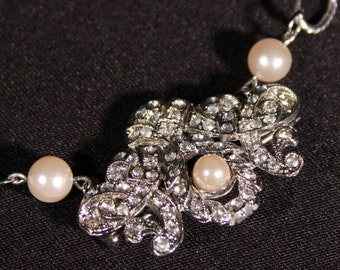 Rhinestone Necklace with Detachable Chain