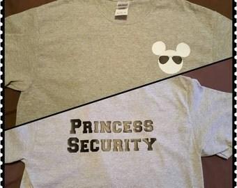 Disney Princess Security T-shirt, youth and adult, Disney vacation shirt, Disney boy shirt