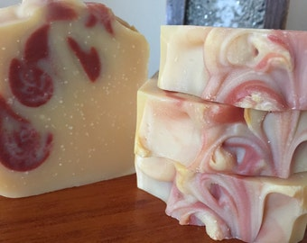 Lemongrass & Pink Clay - 100% Natural Handmade Soap with Essential Oil and Clay
