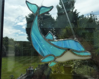 Dolphin made of stained glass