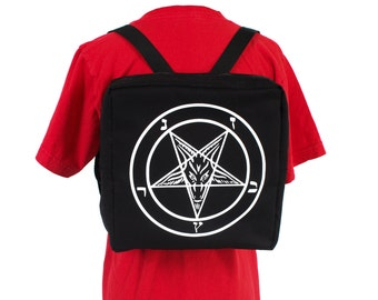 Baphomet Club Kid Backpack Rave Occult Cyber Goth Custom All Colors