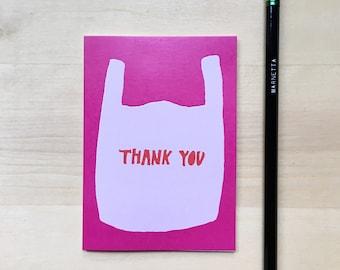 Thank You Bag Thank You Card