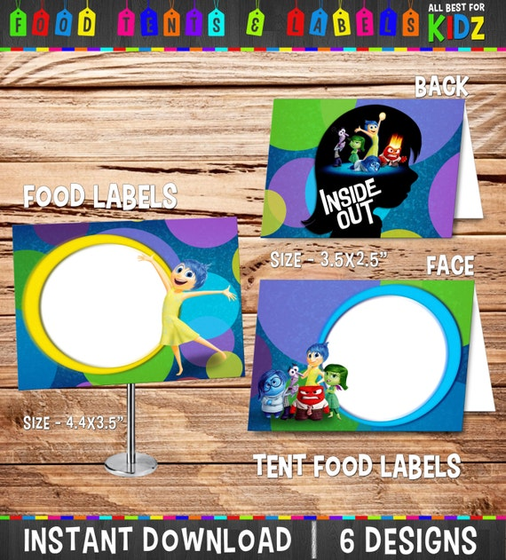 inside out food labels and tent food labels birthday party. Black Bedroom Furniture Sets. Home Design Ideas