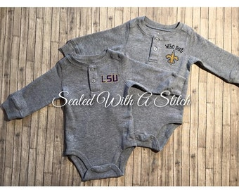 Saints, LSU or Alabama, Embroidered Name Included