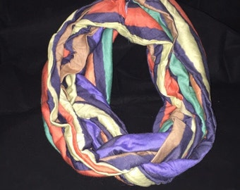 Multi-color Pastel Stripe Infinity Scarf