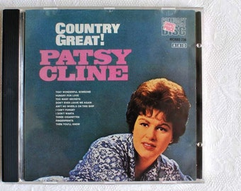 Vintage Patsy Cline Country Great  CD / Vintage Country Audio Compact Disc / Patsy Cline Country Singer CD 1988 / Vintage Patsy Cline / CD