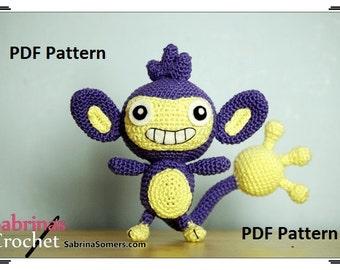Crochet pattern Aipom (Pokemon)