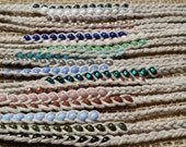 Beaded Braided Hemp Friendship Bracelet - Tie On- natural, hemp, vegan, gift