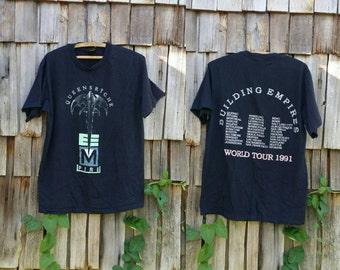 Vintage 90s band tee t-shirt Queensryche shirt concert tour shirt