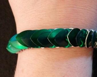 Green Scale Bracelet