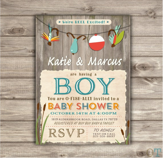 fishing baby shower invitations we 39 re reel excited printable