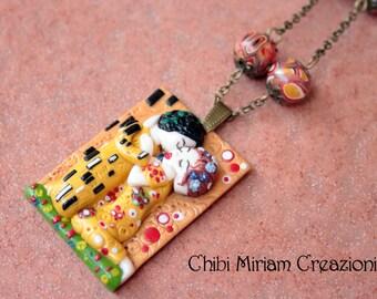 """Klimt necklace """"the kiss"""""""