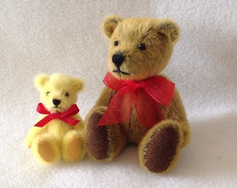 Handcrafted Miniature Bear 3.5 inches,Cinnamon, Artist Bear, Compannion for Little Darling Doll Dianna Effner