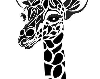Giraffe Wall Vinyl