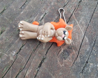 small lion keychain