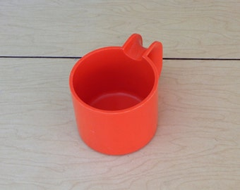 Orange Heller Demis - original italian mold - Massimo Vignelli - espresso cup