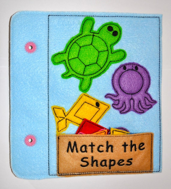 Shapes Match Quiet Book Machine Applique Embroidery By InaHoop