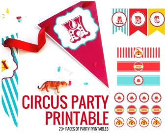 Circus Party Kit/Circus Birthday Party/Circus Party Decorations/Carnival Birthday Printable/Circus/Carnival Birthday Party/Circus Birthday