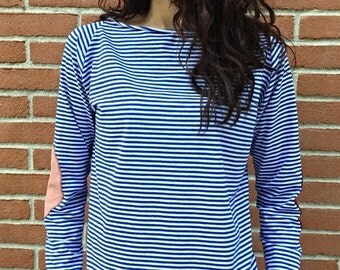 Striped knitted patch