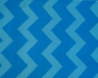 "Fabric flannel blue chevron, 100cm (1 m) (39 "")"