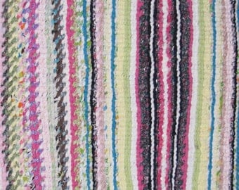 Handmade Handwoven Rag Rug 5 ft