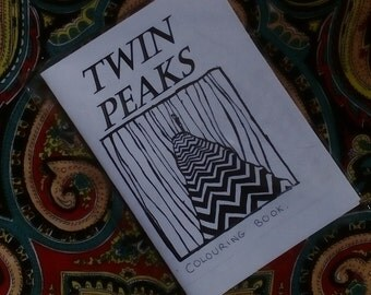 Twin Peaks colouring book / zine / David Lynch