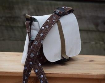 Kid | Toddler Messenger Bag - White Corduroy