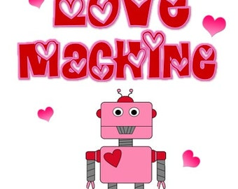 Love Machine Valentine Iron on