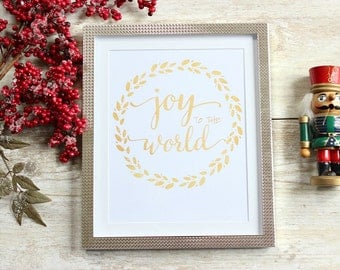 Joy to the World Print, Rustic Christmas Decor, Rustic Christmas Decorations, Christmas Prints, Christmas Printables, Holiday Decor, Xmas