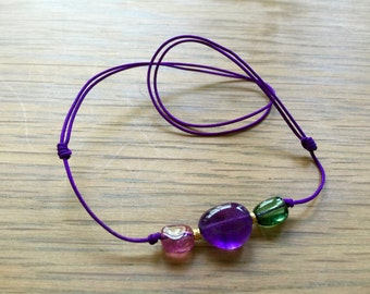 Colored Gems energy necklace